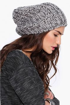 a5fdec52e0df8 Knit Beanie in Grey