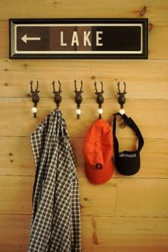 those deer coat racks would go good in the man room to hang nicks hunting attire.