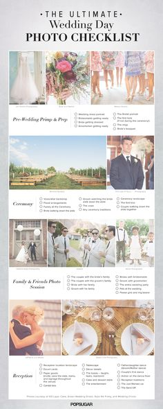 Wedding Day Photo Checklist, bare bones ideas…Ill get together with you guys to make up a list of what you guys want. Wedding Day Photo Checklist, bare bones ideas…Ill get… Wedding Poses, Wedding Tips, Our Wedding, Dream Wedding, Trendy Wedding, Wedding Ceremony, Budget Wedding, Wedding Stuff, Wedding 2015
