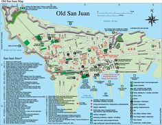 map of old san juan puerto rico   Old San Juan Tourist Map See map details From www.travelmaps.com ...