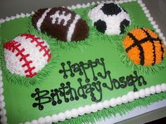 sport theme cakes for girls | Sweet Treats by Susan: Birthday Cakes... No Girls Allowed... :)