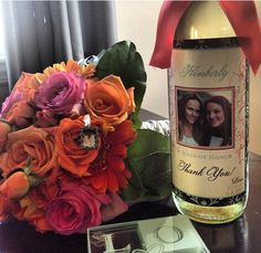 Maid of Honor personalized wine bottle