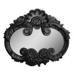 beautiful black frame mirror.