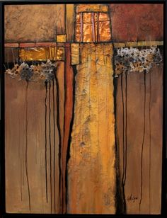 Tapestry , mixed media contemporary geologic abstract Carol Nelson Fine Art, painting by artist Carol Nelson