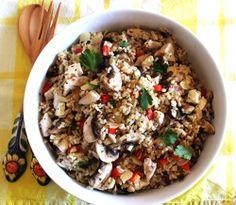 food on paper: Italian Brown Rice Salad #oliveoil #recipe (via foodonpaper.com)