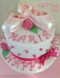 Ballet Shoes Cake