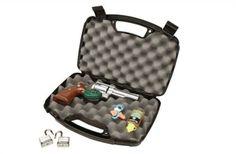 NEW-Single-Scoped-Pistol-Hard-Case-Storage-Box-Handgun-Case-Pad-Locable-Case