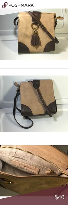 Talbots Crossbody Brown/Tan Leather Purse Talbots Brown/Tan Crossbody Leather Purse. Like new condition. Talbots Bags