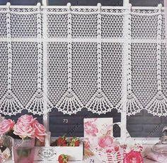 TRI CRO DA TUKA: cortina/crochê