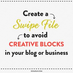Running into creative blocks in your blog or business? Do this!