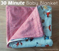30 minute baby blanket two fabric needed super quick and simple to sew