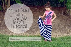 FREE maxi skirt with triangle insert tutorial