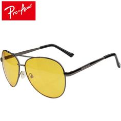 4bec58aa9e Pro Acme Aviation Night Vision glasses Driving Yellow Lens Classic Anti  Glare Vision Driver Safety glasses For Men CC0101