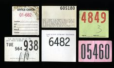 #numbers #ephemera #stub