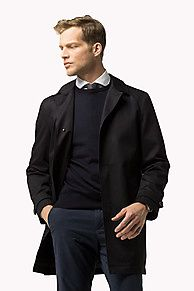 Shop the blue cotton fitted coat and explore the Tommy Hilfiger coats