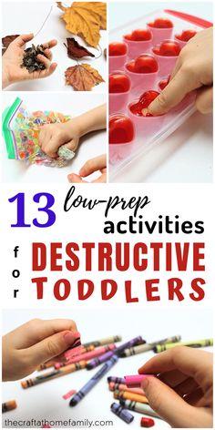 13 Low-Prep Activities for Destructive Toddlers