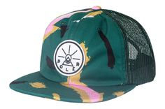 The golden circle awaits all true adventurers Patch Logo, Mesh Backed Unstructured 6 Panel Nylon Hat, Foldable Brim