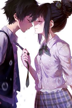 - Anime,Zeichnungen etc. -Anime couple - Not sure who this couple is. - Anime,Zeichnungen etc. Manga Anime, Anime Kiss, Manga Love, I Love Anime, Cute Anime Guys, Kawaii Anime, Couple Manga, Couple Art, Anime Sweet Couple