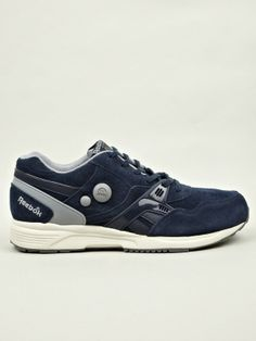 96593d61ba9 Reebok Men s Navy Pump Running Dual Sneakers