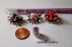 Chris P.'s Minis and More: Candles from pencil eraser tops & how it was made