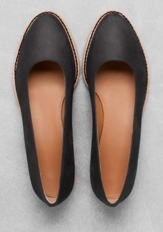 Leather ballerinas | Black | & Other Stories