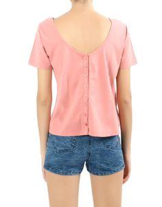 #Camiseta Double Agent con botones espalda. Manga corta. Color rosa salmón y fucsia. Por 9,99€ en www.doubleagent.es #trends #ropa #fashion