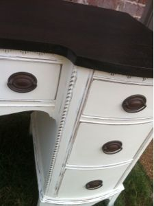 Keeping Up With The Joneses: Antique Old White Desk