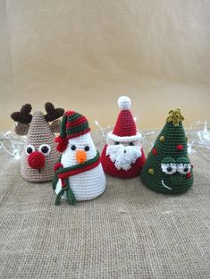 Amigurumi Christmas Collection - Crochet Christmas Pattern For Home Decoration Crochet Christmas Ornaments, Christmas Crochet Patterns, Holiday Crochet, Christmas Crafts, Christmas Christmas, Crochet Diy, Crochet Amigurumi, Amigurumi Doll, Scarf Crochet