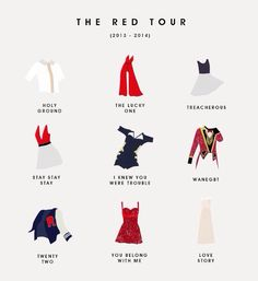 T swift tour costumes