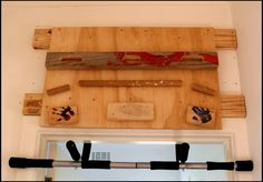 Just this side of chaos...: Homemade indoor rock climbing finger board