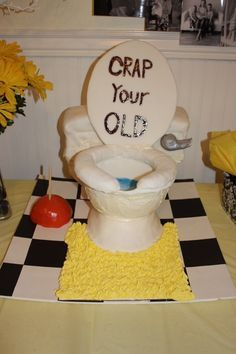 funny birthday cakes for dad | Ideas for Dad's Birthday Candy Apple plunger is too cool!