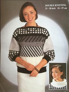 Excited to share the latest addition to my #etsy shop: 1980s Vintage Knitting Pattern for a Slash Neck Sweater. Vintage Knitting, 1980s, Knitting Patterns, High Neck Dress, Etsy Shop, Sweaters, Shopping, Dresses, Fashion