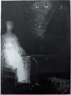 Illustration for the book The Haunted and The Haunters (1896) – Odilon Redon