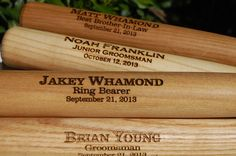 7 Baseball Bats  Engraved Ball Bat by UrbanFarmhouseTampa on Etsy, $84.00