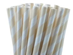 paper drinking straws -- tan;; for the milk & cookie bar