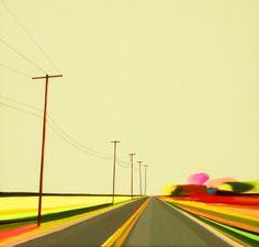 "Autumn on Daniel's Lane by Grant Haffner, 2010, acrylic on wood panel, 11.5"" x 11.5"""