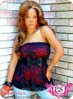 Lace Style Red/Black Belted Tube Blouse $15.75 At www.charlenesstyle.com