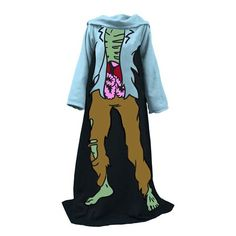 Zombie Snuggie - Is your body feeling cold? Do you feel like you're turning into a zombie? Then shamble around in this awesome zombie sunggie! Features a fun image of a rotting zombie for you to wear and keep you warm.