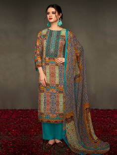 Shop the best designer #pashminasalwarkameez online for winter wear collection from Inddus. We offer the finest pashmina suits for casual, wedding, or party wear collection at best price.