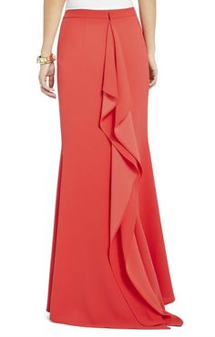 Flora Skirt with Back Drape | BCBG - Here's a pic of the back of the skirt - LOVE LOVE LOVE it!
