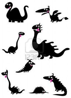 Funny dinosaurs Stock Photo - 11002773