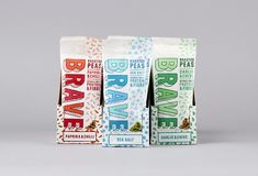 Speaking in black & white. Roasted Peas, Garlic Chives, Water Logo, Magpie, Brave, Black And White, Packaging, Studio, Color