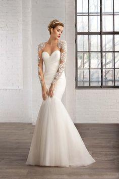 2016 Winter Wedding Dress Long Sleeve Sequins Sheer Backless Shiny Luxury Crystal Court Train abiti da sposa principessa
