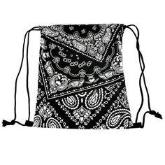 Bandana Säkkireppu Bandana, Drawstring Backpack, Backpacks, Bags, Fashion, Purses, Moda, Bandanas, Fashion Styles