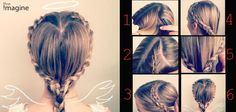 a quick and easy heart shaped hairdo for #valentine'sday!