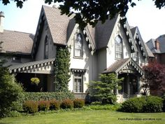 Quaint #Victorian #Gothic Tiffin Ohio house with lots of gingerbread trim from Front-Porch-Ideas-and-More.com #porch