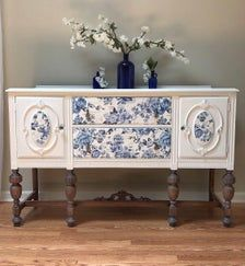 Refurbished Furniture, Paint Furniture, Repurposed Furniture, Furniture Projects, Furniture Makeover, Vintage Furniture, Vintage Buffet, Antique Buffet, Indian Interiors