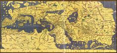 Al Idrissi 1100-1165 ,  map of the world.