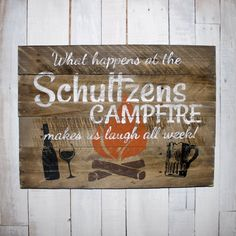 Camping Sign, Custom Name Sign, Pallet Last Name Wood Sign, Rustic Family Established Sign, Distressed Personalized Name Sign