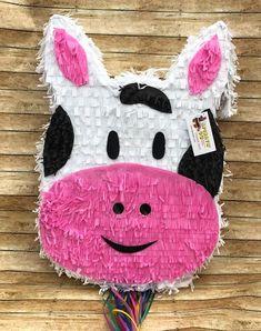 Cow Birthday Parties, Birthday Pinata, 2nd Birthday, Farm Animal Party, Farm Animal Birthday, Eid Crafts, Cow Head, Farm Theme, Fun Activities For Kids